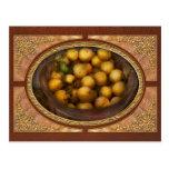 Comida - manzanas - manzanas de oro tarjeta postal