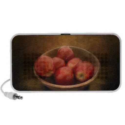 Comida - manzanas - un cuenco de manzanas altavoces