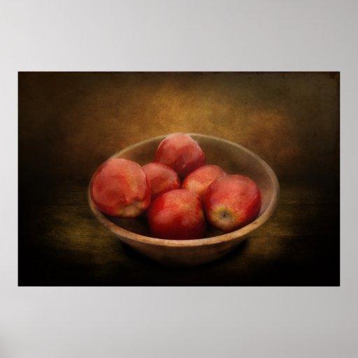 Comida - manzanas - un cuenco de manzanas posters