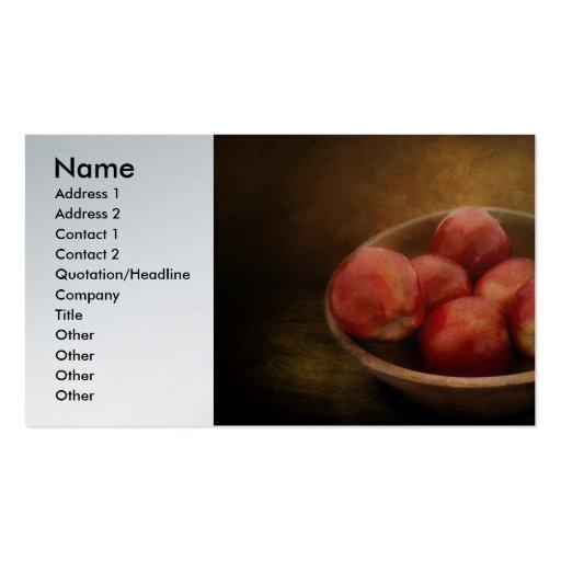 Comida - manzanas - un cuenco de manzanas tarjetas de visita