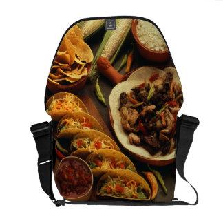 Comida mexicana bolsas messenger