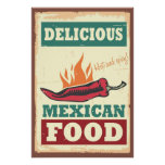 Comida mexicana deliciosa impresiones