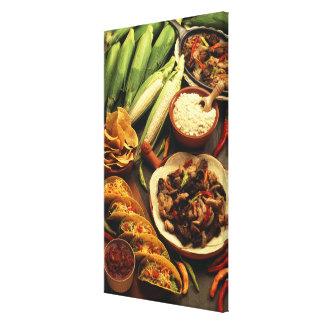 Comida mexicana impresión en tela