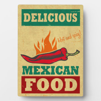 Comida mexicana placa de madera