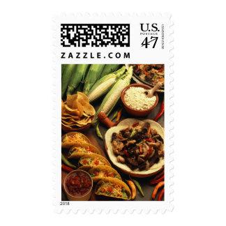 Comida mexicana sello postal