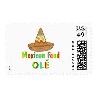Comida mexicana sellos postales