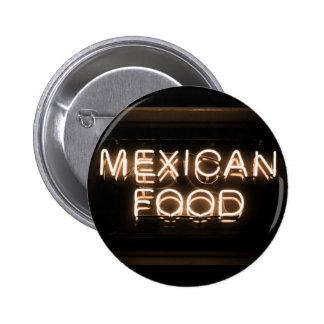 COMIDA MEXICANA - señal de neón amarilla Pin