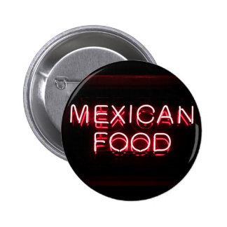 COMIDA MEXICANA - señal de neón roja Pin