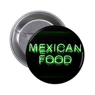 COMIDA MEXICANA - señal de neón verde Pin