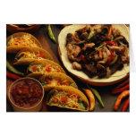 Comida mexicana tarjeta de felicitación