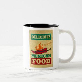 Comida mexicana taza dos tonos