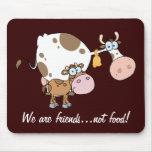 Comida Mousepad de los amigos no Alfombrillas De Ratón