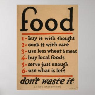 Comida - no la pierda, 1917 de nuestra colección póster