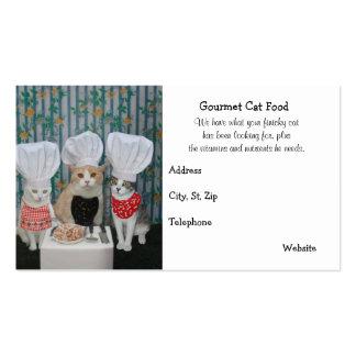 Comida para gatos gastrónoma superior tarjetas de visita
