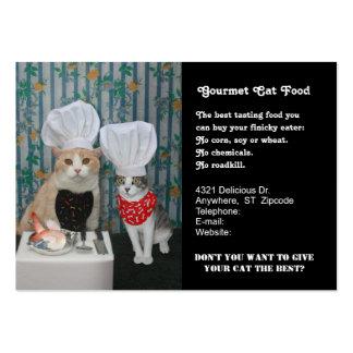 Comida para gatos gastrónoma tarjetas de visita grandes