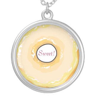 ¡Comida para la jalea Donut_Sweet de Colgante Redondo