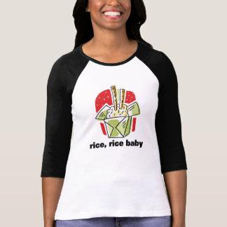 Comida para llevar japonesa china del bebé del camisetas