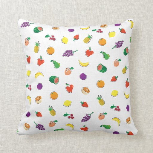 Comida para Thought_Totally Fruity_Pattern Cojin