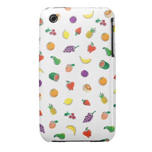 Comida para Thought_Totally Fruity_Pattern iPhone 3 Cobertura