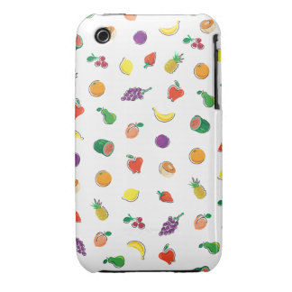 Comida para Thought_Totally Fruity_Pattern Funda Bareyly There Para iPhone 3 De Case-Mate