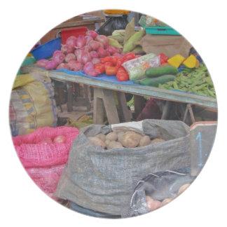 Comida peruana del amor - papás Cebolla de la pata Plato