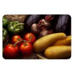 Comida - pimientas, tomates, calabaza y nabos imanes flexibles