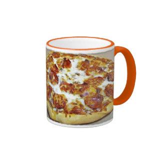 Comida:  Pizza Taza De Dos Colores