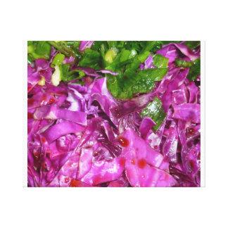 comida púrpura de la verdura de las cebollas lona estirada galerías