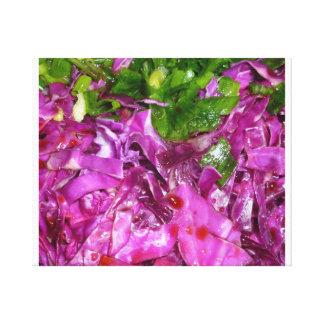 comida púrpura de la verdura de las cebollas impresion de lienzo