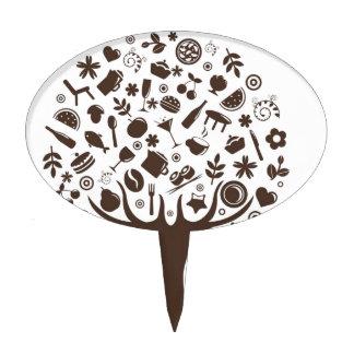 Comida que crece en la torta del cafeto de la frut figuras para tartas