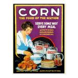 Comida retra del maíz del kitsch del vintage de la postal