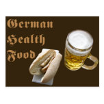 Comida sana alemana (marrón) postal
