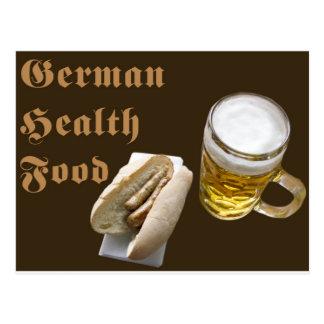 Comida sana alemana (marrón) postales