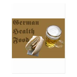 Comida sana alemana postales