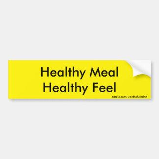 Comida sana pegatina para auto