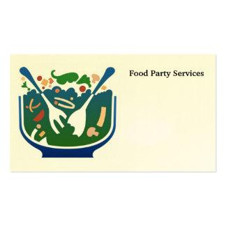 comida, servicios del fiesta de la comida tarjetas personales