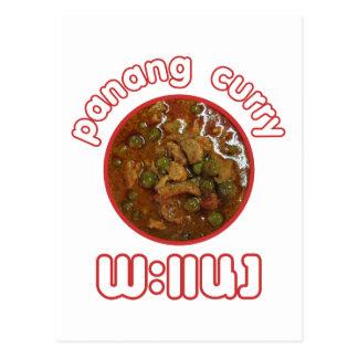 Comida tailandesa de la calle de Tailandia del cur Tarjetas Postales