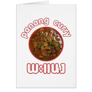 Comida tailandesa de la calle de Tailandia del Tarjeta De Felicitación