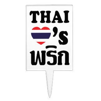 Comida tailandesa del ❤ TAILANDÉS del AMOR PHRIK Figuras Para Tartas