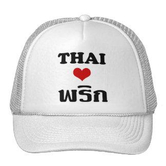 Comida tailandesa del ❤ TAILANDÉS del AMOR PHRIK Gorro
