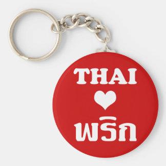 Comida tailandesa del ❤ TAILANDÉS del AMOR PHRIK Llavero Redondo Tipo Pin