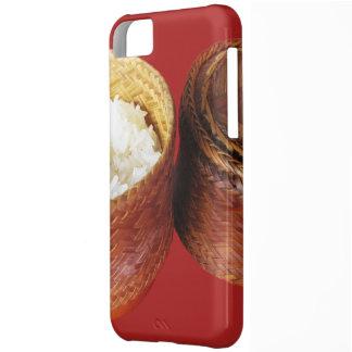 Comida tailandesa pegajosa del Lao del arroz [Khao Carcasa Para iPhone 5C