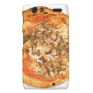 Comida tradicional de la pizza de la seta de Fungh Motorola Droid RAZR Carcasas