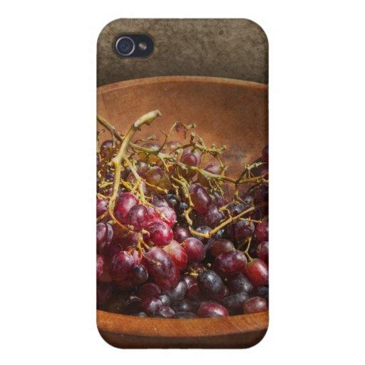 Comida - uvas - un cuenco de uvas iPhone 4 funda