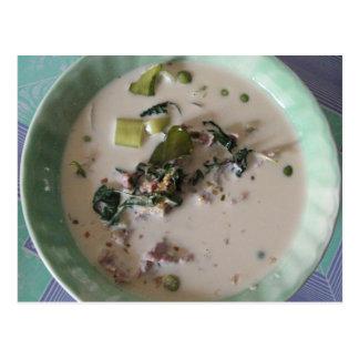 Comida verde tailandesa de la calle de Tailandia Tarjetas Postales