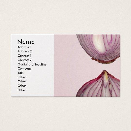 Comida - verdura - sección representativa de una tarjeta de negocios
