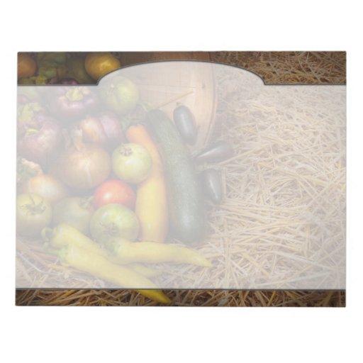 Comida - verduras - cosecha muy temprana libreta para notas