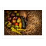 Comida - verduras - cosecha muy temprana postal