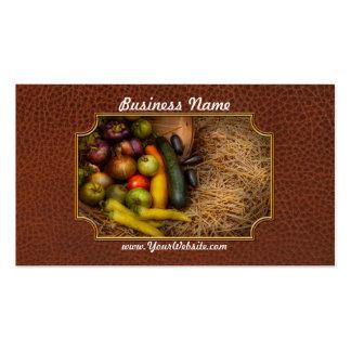 Comida - verduras - cosecha muy temprana plantillas de tarjeta de negocio