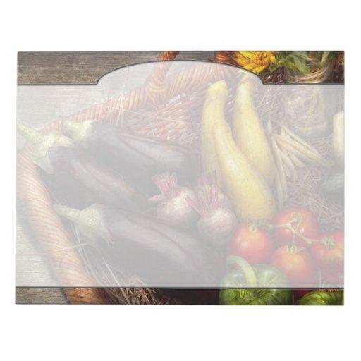 Comida - verduras - del jardín de la madre libreta para notas
